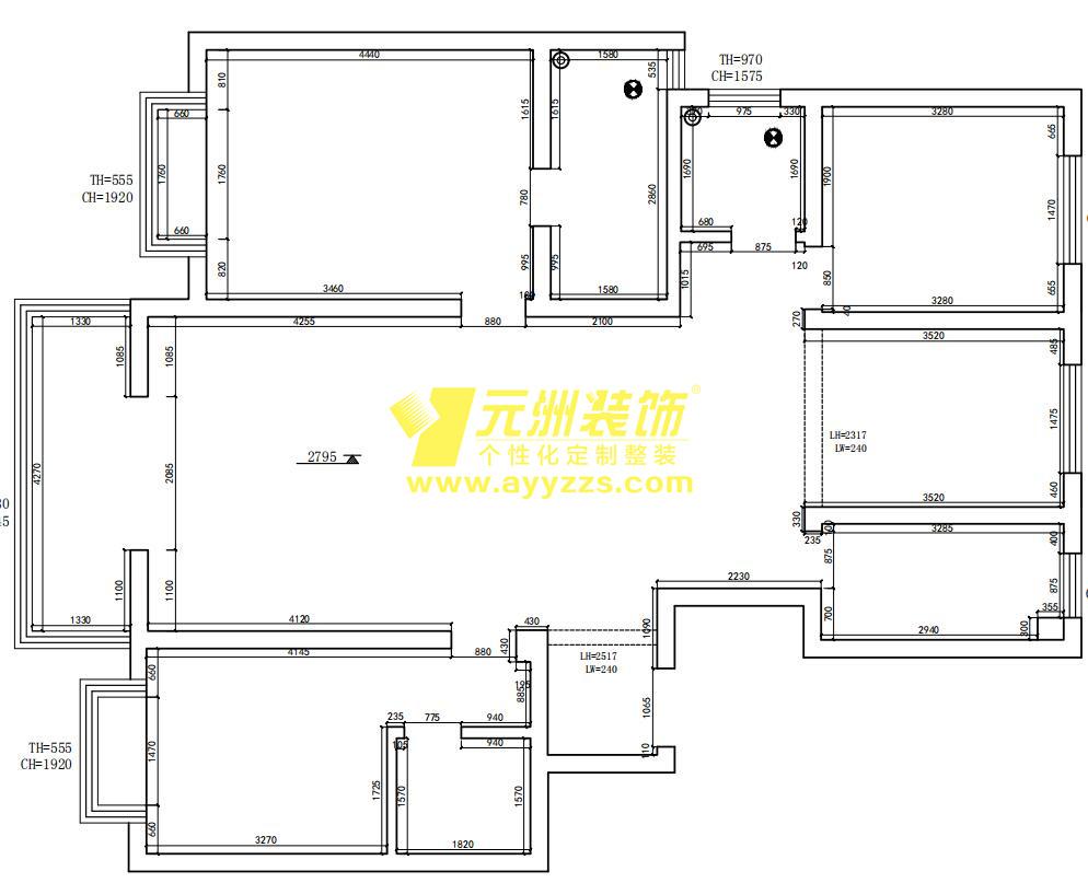 1单元702室·145平米