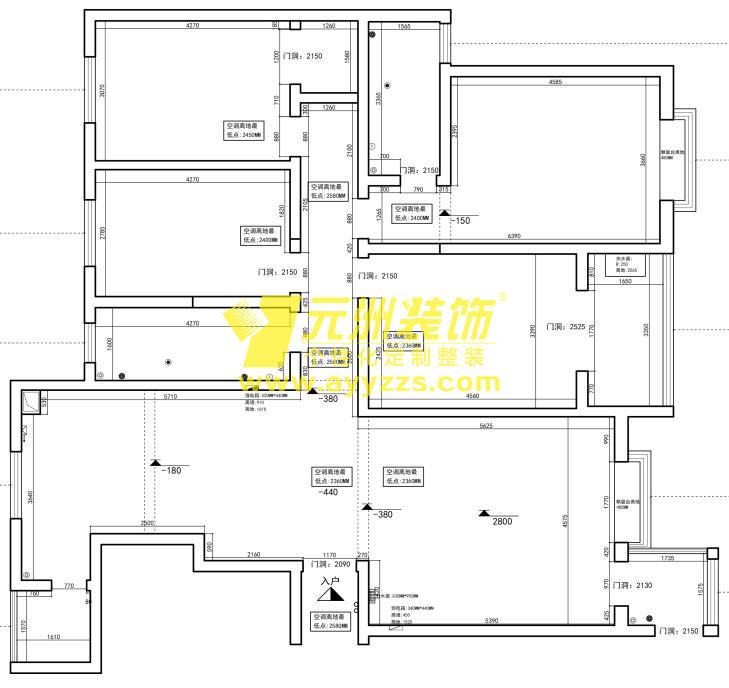1单元2901室·200平米