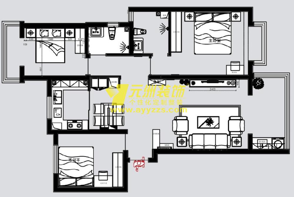 1单元1301室·126平米