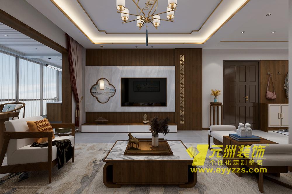 中华园·新中式·135平米